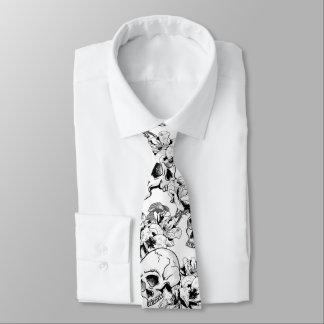 Cravate Gothique usage crânes et roses d'affaires de