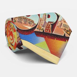 Cravate Grande carte postale de voyage de lettre de New