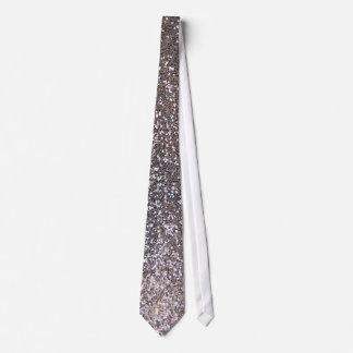 Cravate Graphique de scintillement d'argent de Faux