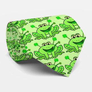 Cravate Grenouille irlandaise mignonne du jour de Patrick