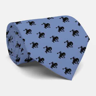 Cravate Gris bleu du motif | de cowboy de rodéo