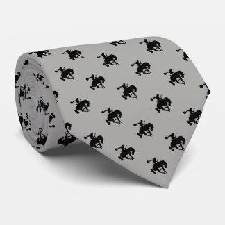 Cravate Gris du motif | de cowboy de rodéo