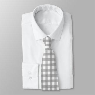 Cravate grise et blanche de contrôle de Buffalo