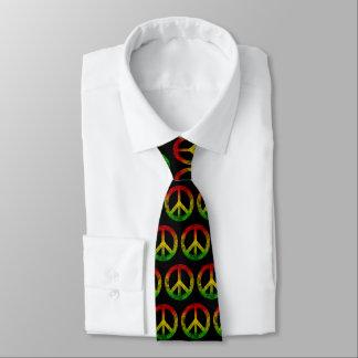 Cravate grunge de symbole de paix de Rasta