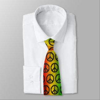 Cravate grunge frais de symbole de paix de Rasta