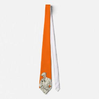 Cravate Habillement orange de fumée de tuyau de la mode