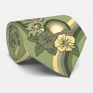 Cravate hawaïenne surfante de ketmie de safari
