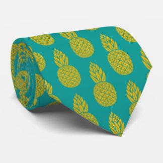 Cravate hawaïenne tropicale de motif d'ananas