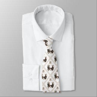 Cravate Heureux, riant, motif de diamant de Bouddha de
