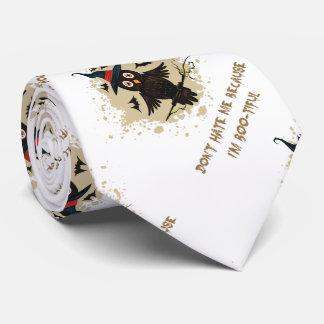 Cravate Hibou mignon de Halloween avec le casquette de