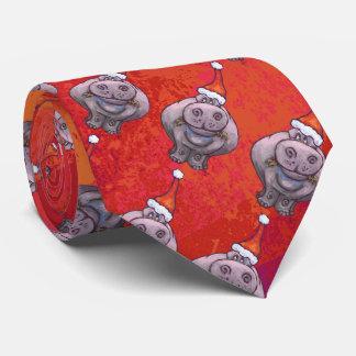 Cravate Hippopotame mignon dans le motif de casquette de