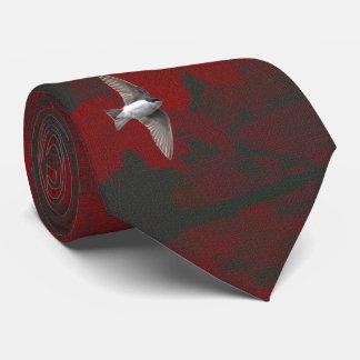 Cravate Hirondelle d'arbre animale d'oiseau et hirondelle