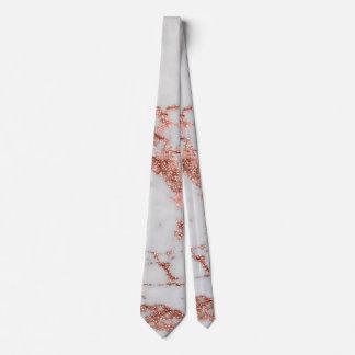 Cravate Image rose de texture de marbre de scintillement