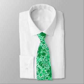 Cravate Iris de William Morris et lis, vert de jade