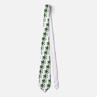 Cravate Irlandais simili cuir CloverBall