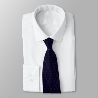 Cravate Jacquard lumineux de marine de diamant
