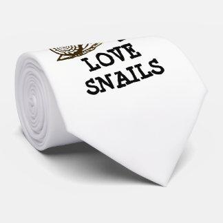 Cravate J'aime des escargots