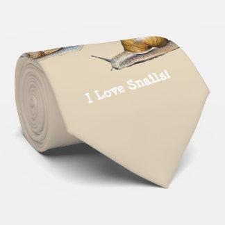 Cravate J'aime la conception d'escargot d'escargots