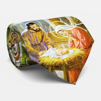 Cravate Jésus dans la nativité de Noël de Manger