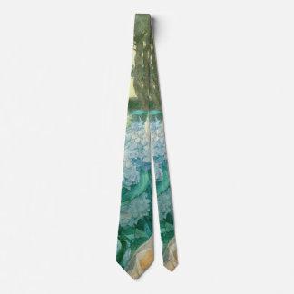 Cravate Jeune femme avec les hortensias 1900