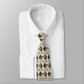 Cravate La boxe vintage soutient schéma