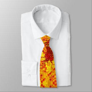 Cravate La ketmie hawaïenne d'impression fleurit le rouge