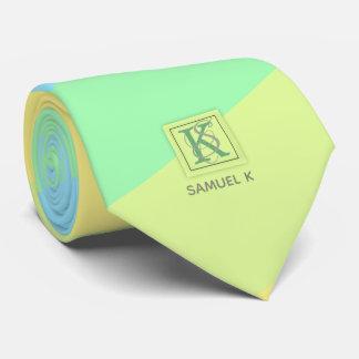 Cravate La palette de couleurs de chaux d'océan d'été