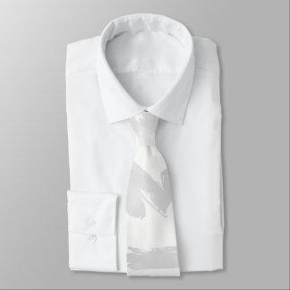 Cravate La peinture blanche de gris argenté frotte le