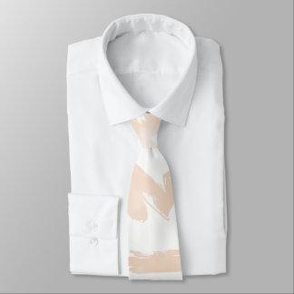 Cravate Le blanc rougissent contemporain de rose de