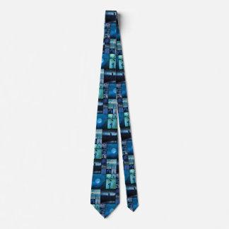 Cravate Le bleu rappelle mirage