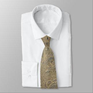 Cravate Le cru a dénommé la sépia texturisée par Paisley