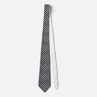 Cravate Le diamant noir et miroitant aiment des rayures