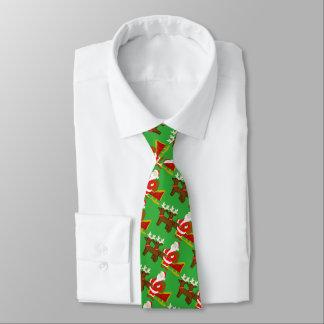 Cravate le père noël sur le traîneau de Noël