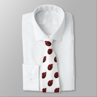 Cravate Le rouge de scintillement miroite motif de