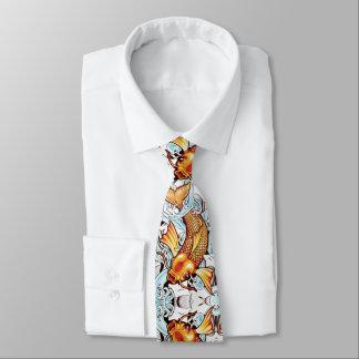 Cravate Le tatouage de Japonais de carpe de Koi a inspiré