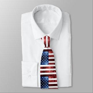 Cravate Les Etats-Unis marquent des scintillements bleus