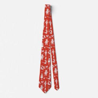 Cravate Licornes de Noël