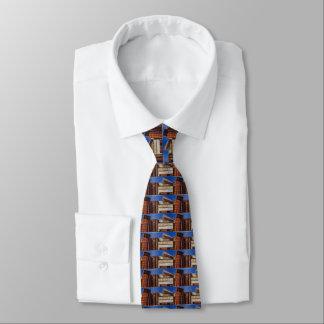 Cravate Livres vintages bleus