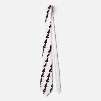 Cravate Loup simili cuir de zodiaque de Natif américain