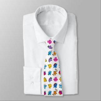 Cravate M. Men et petit motif au néon de danse de la Mlle
