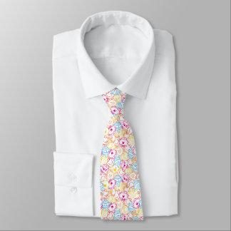Cravate M. Men et petit motif de couleurs de néon de la