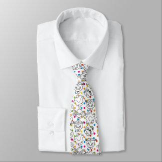 Cravate M. Men et petit motif de pois d'arc-en-ciel de la