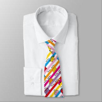 Cravate M. Men et petit motif de rayures d'arc-en-ciel de