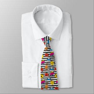 Cravate M. Men et petit motif de rayures de la Mlle |