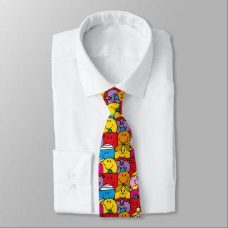Cravate M. Men et petite Mlle | dans un motif de foule