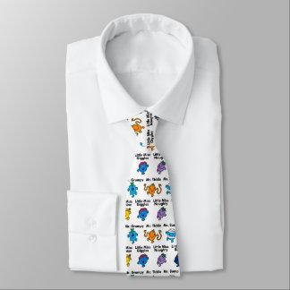 Cravate M. Men et petits noms de caractère de la Mlle |