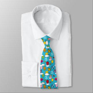 Cravate M. Men et petits oiseaux et ballons de la Mlle |