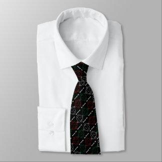 Cravate M. Strong | motif rouge, de blanc et de vert