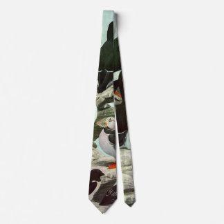 Cravate Macareux vintages, oiseau aquatique, animaux
