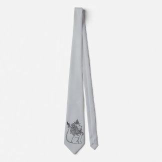 Cravate Magicien d'Oz vintage, lion lâche avec la couronne